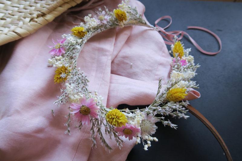 Couronne fleurs séchées Paulette