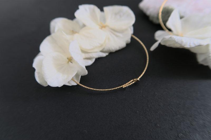 Boucles d'oreilles en véritables fleurs