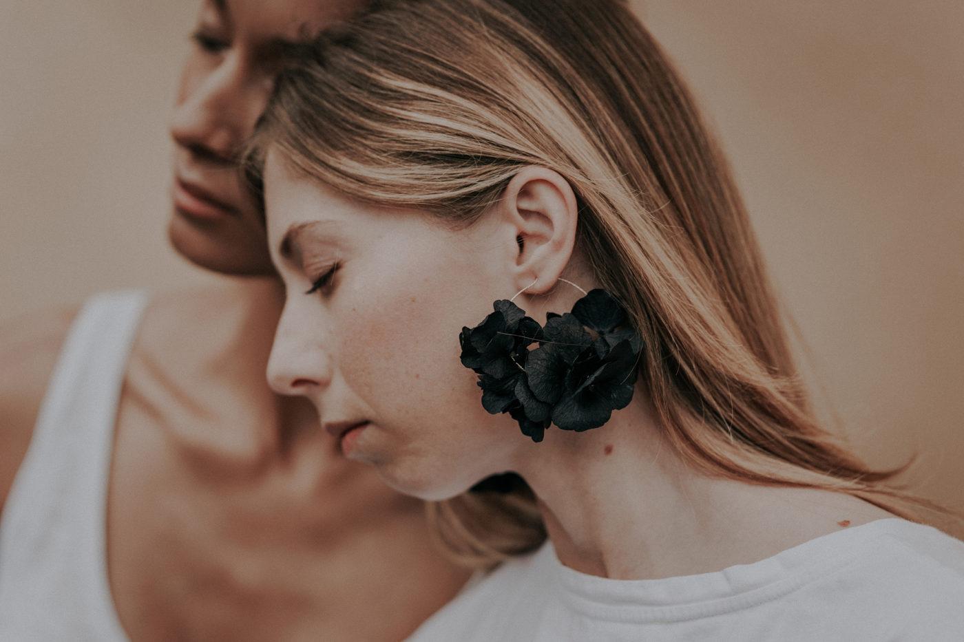 créoles hortensia noires