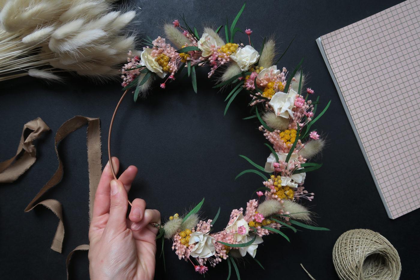 couronne de fleurs frida
