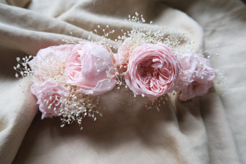 peigne roses anglaises