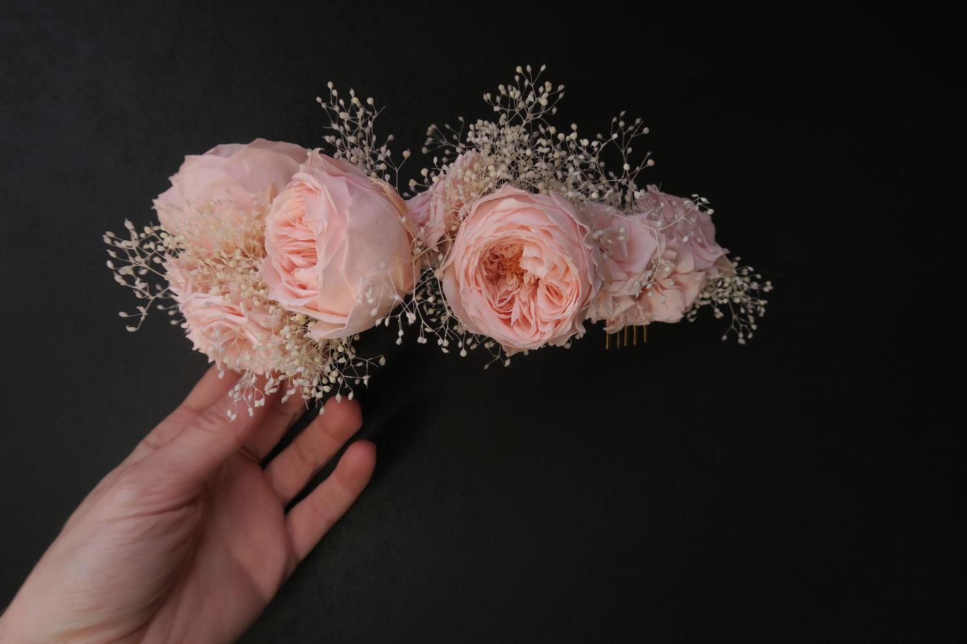 demie couronne de mariée