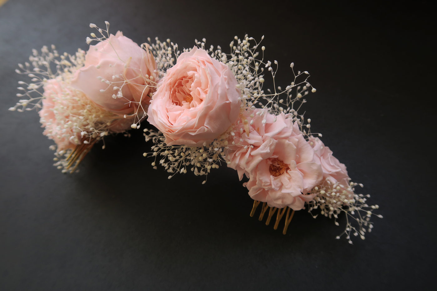 demie couronne roses anglaises