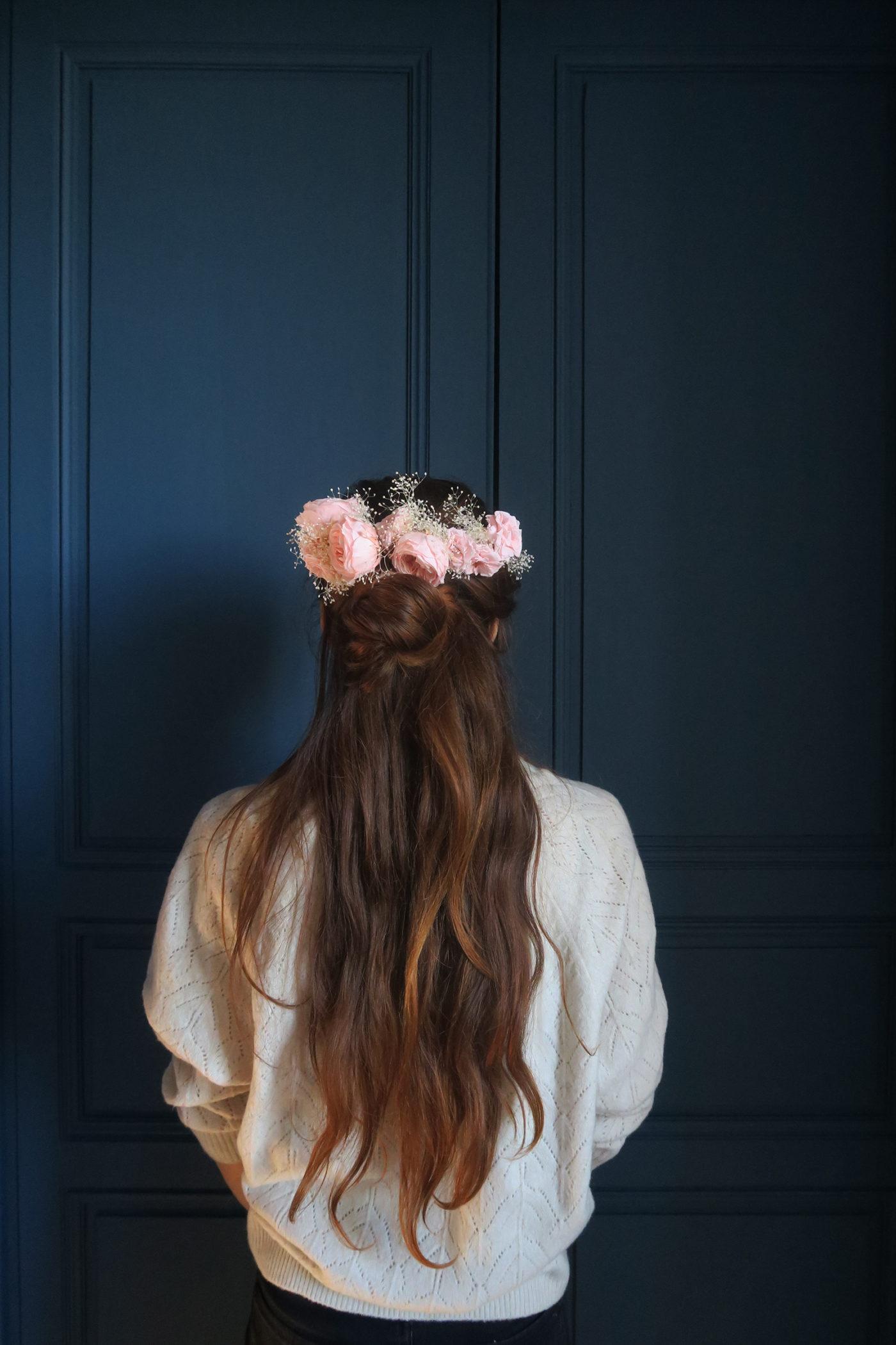 demie couronne de roses anglaises