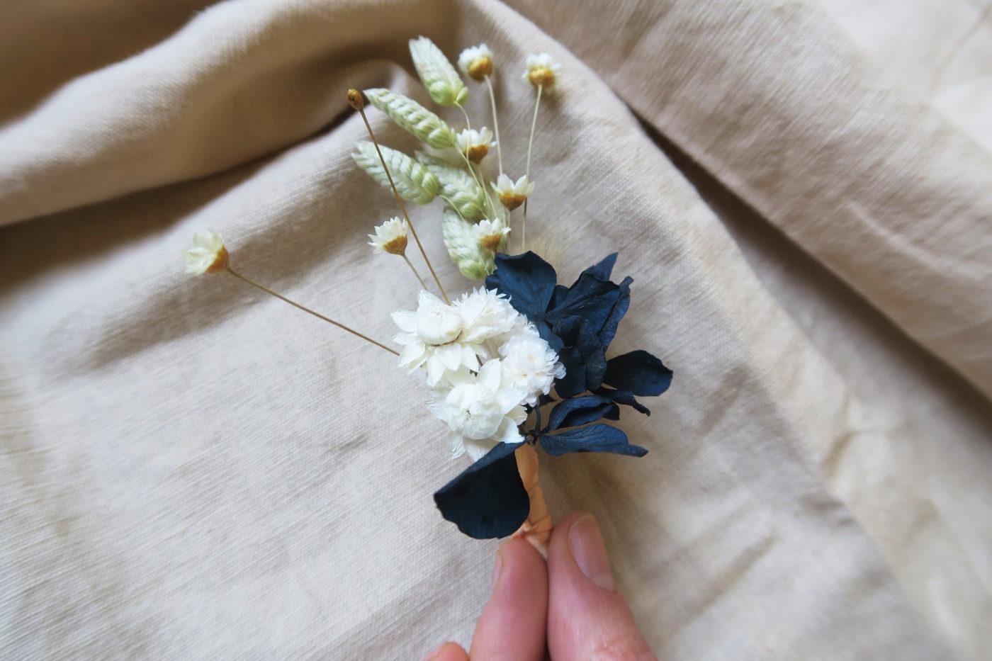 broche boutonniere fleurs sechees
