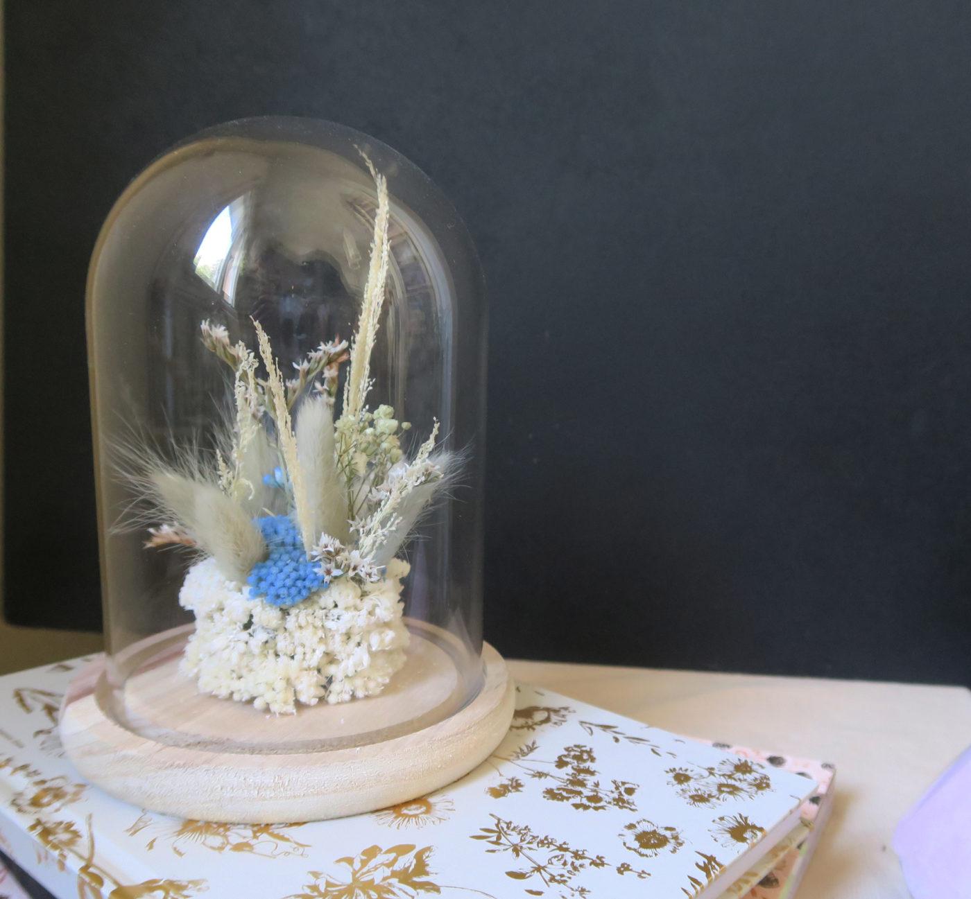 cloche de fleurs séchées Luce