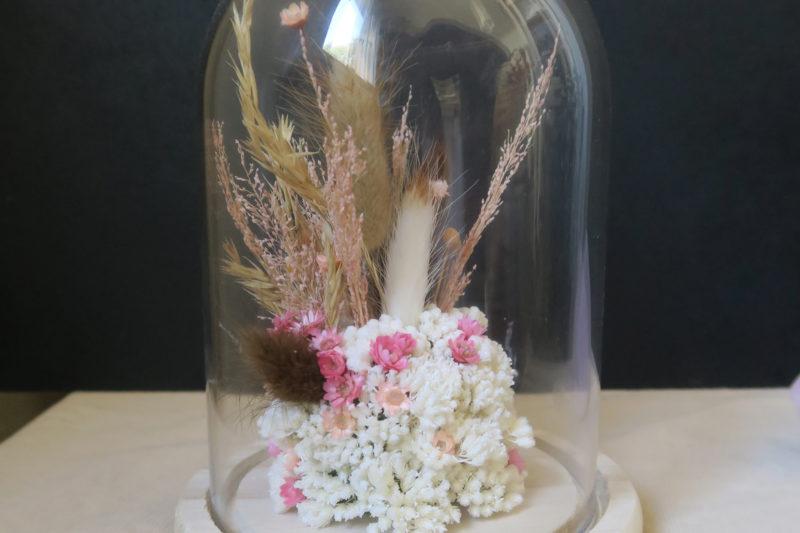 cloche fleurs séchées hera