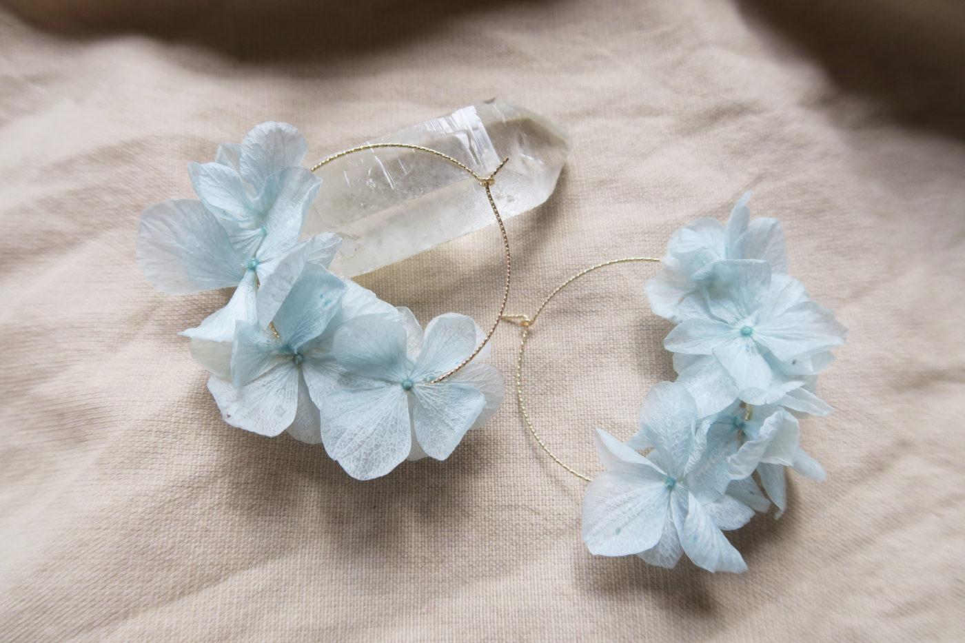 créoles hortensia bleu
