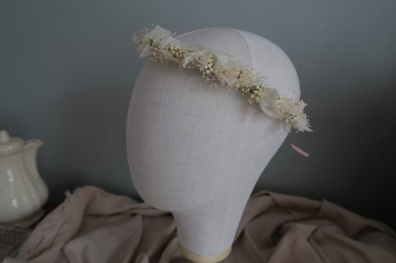 couronne de mariée fleurs hortensia