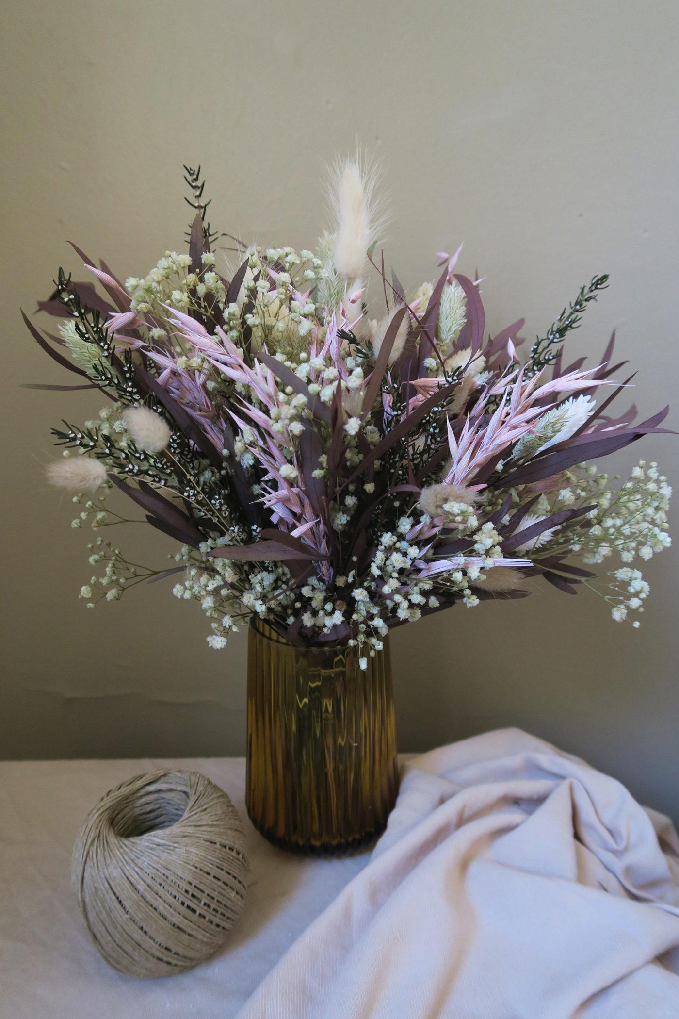 fleurs séchées bouquet