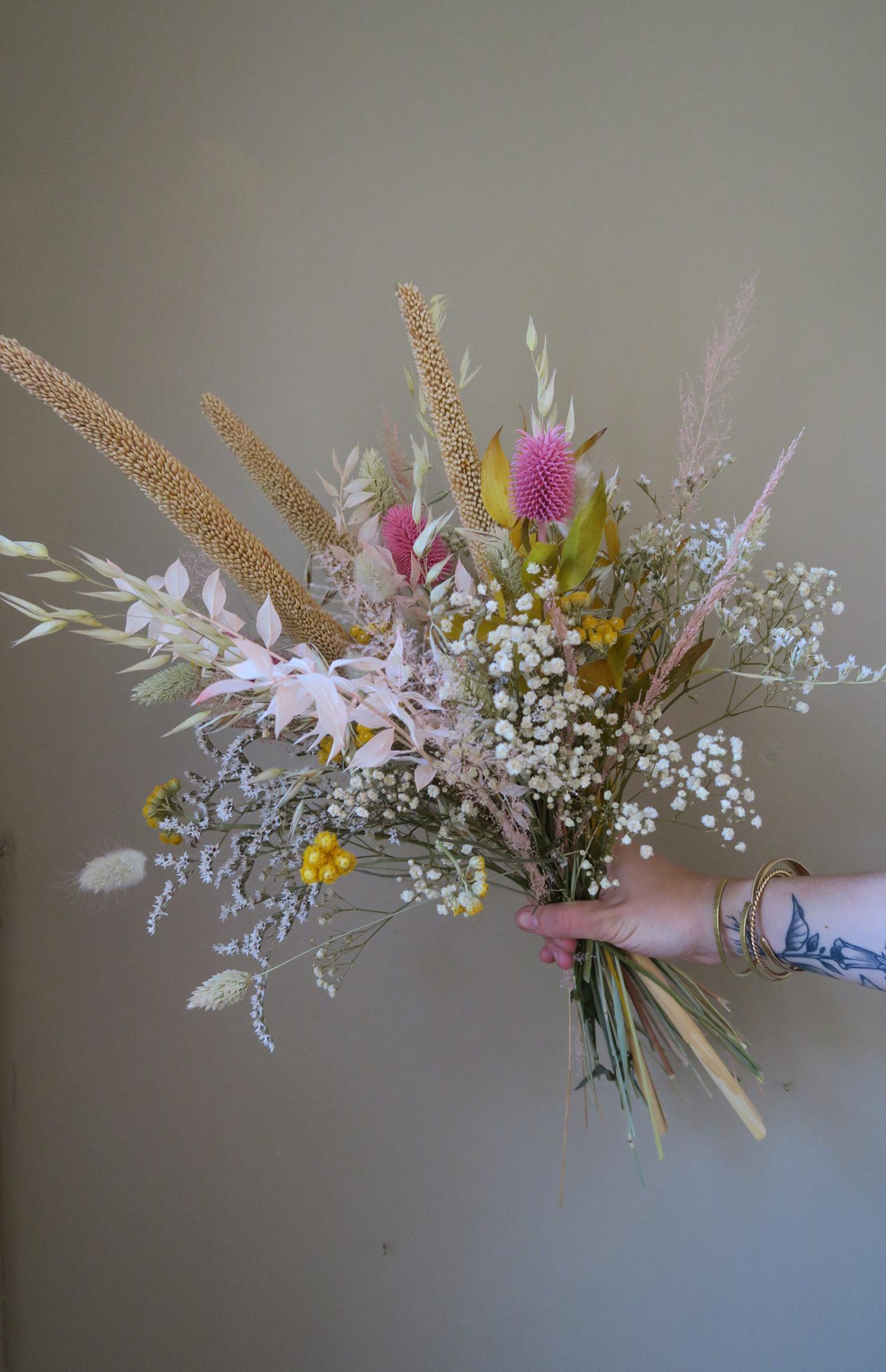 bouquet fleurs séchées été
