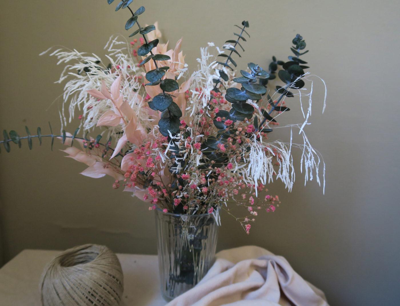 fleurs séchées romantique