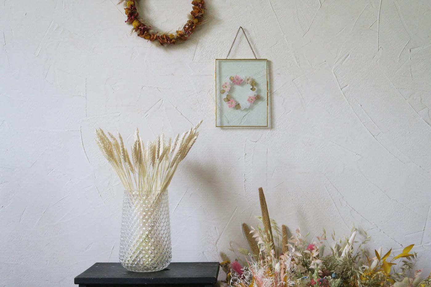 bouquet de blé séché blanc