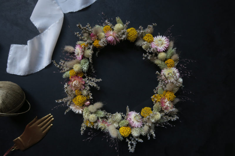 couronne de fleurs françaises hosta