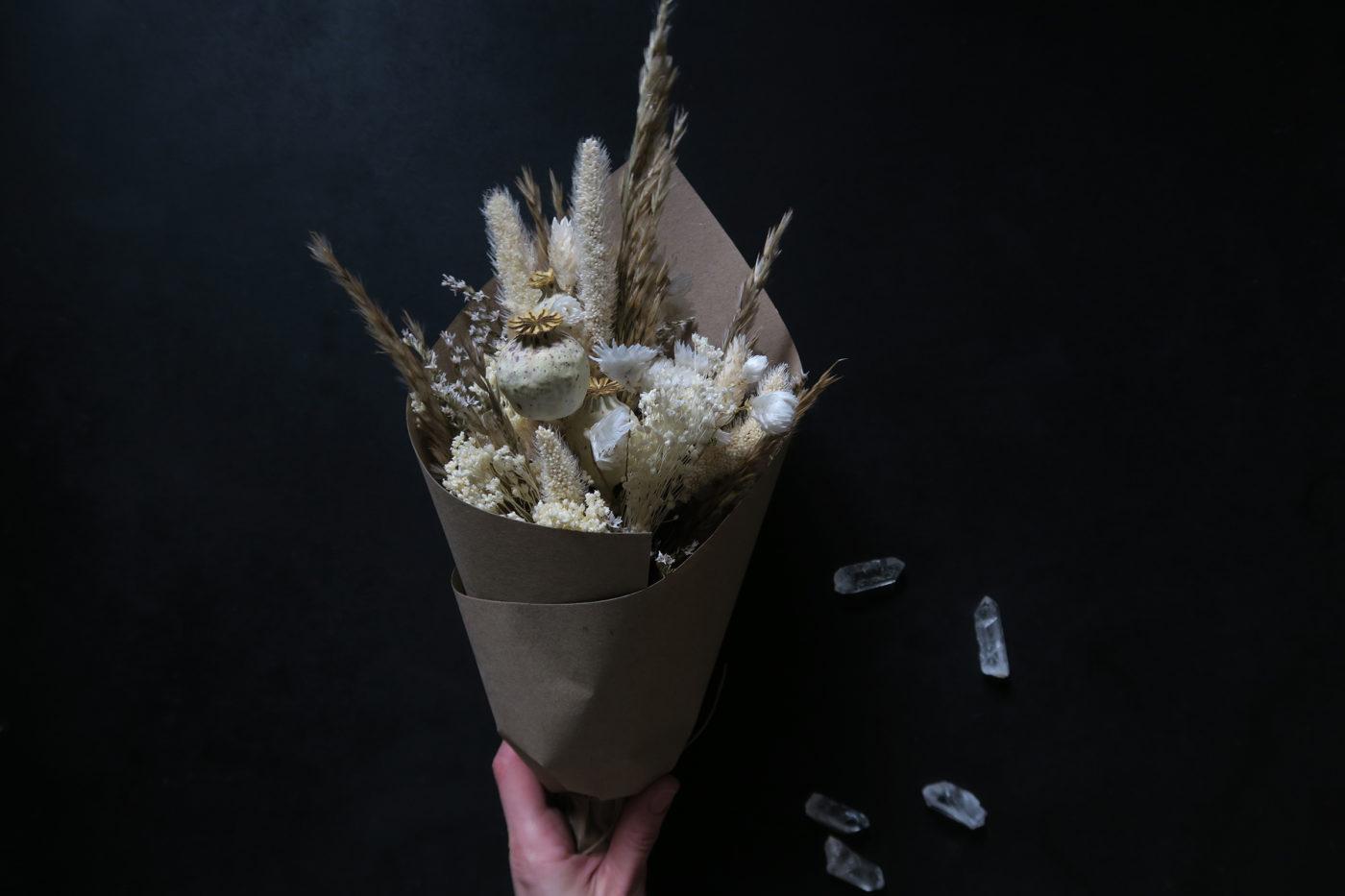bouquet de fleurs séchées naturelles