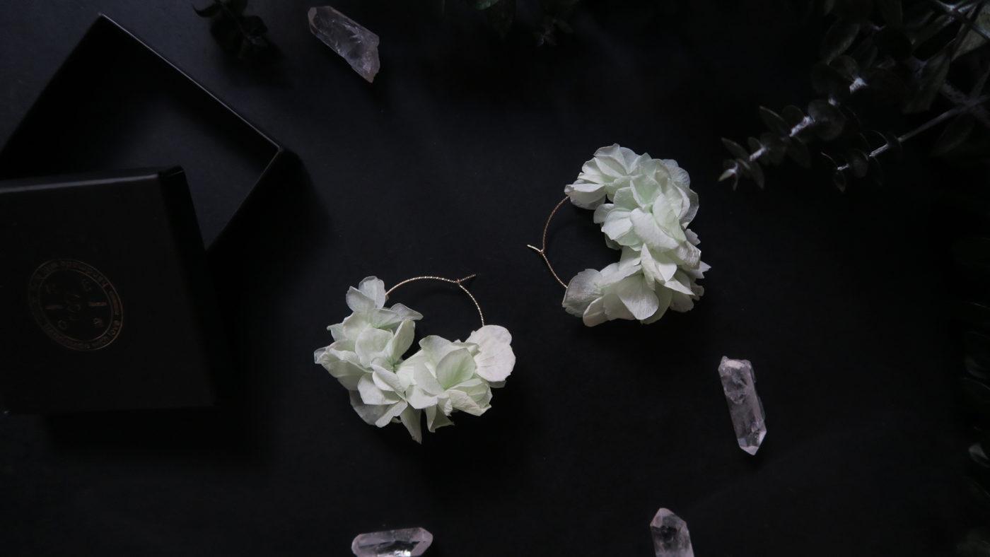 boucles oreille fleurs séchées