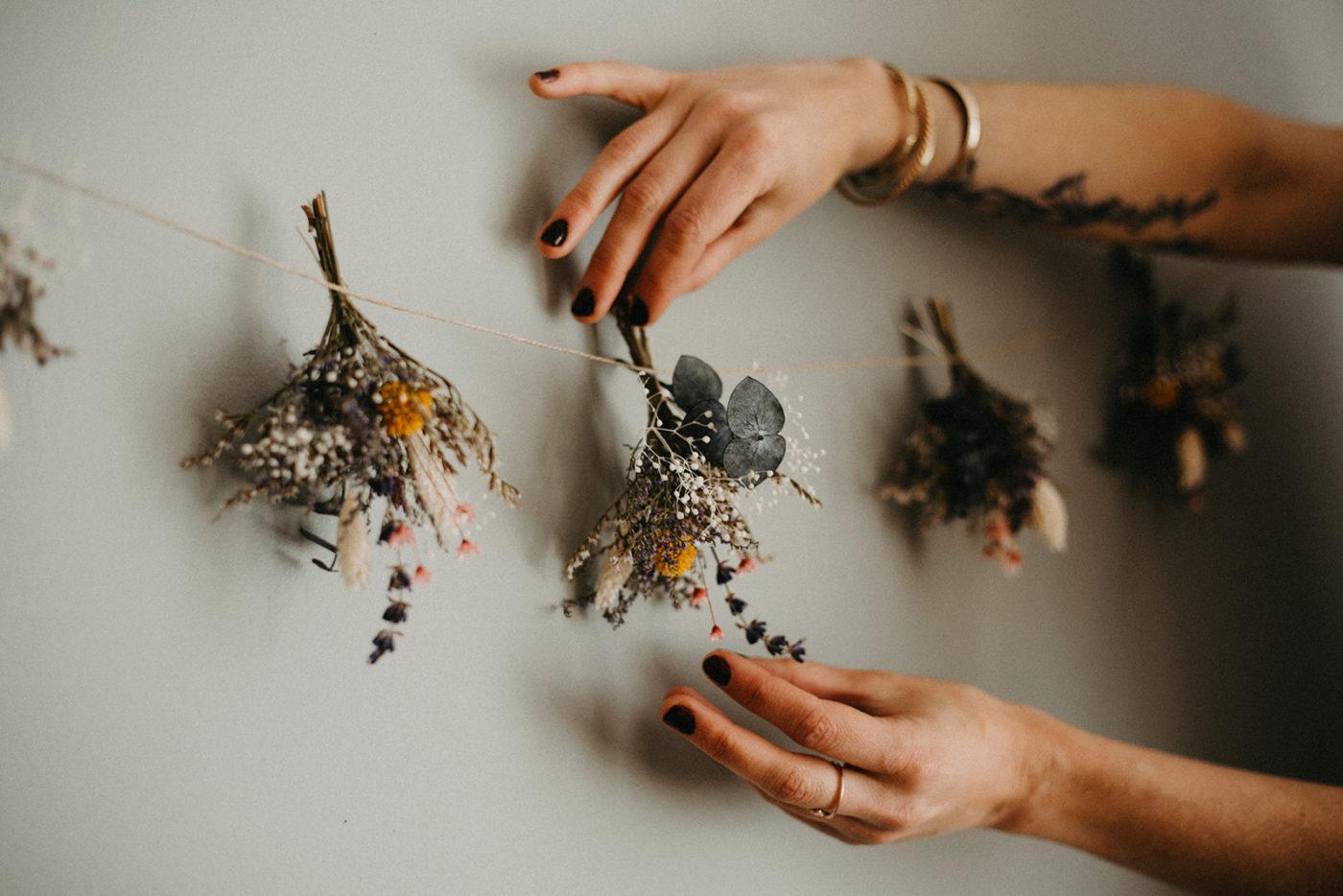 atelier floral créatif fleurs séchées guirlande toulouse