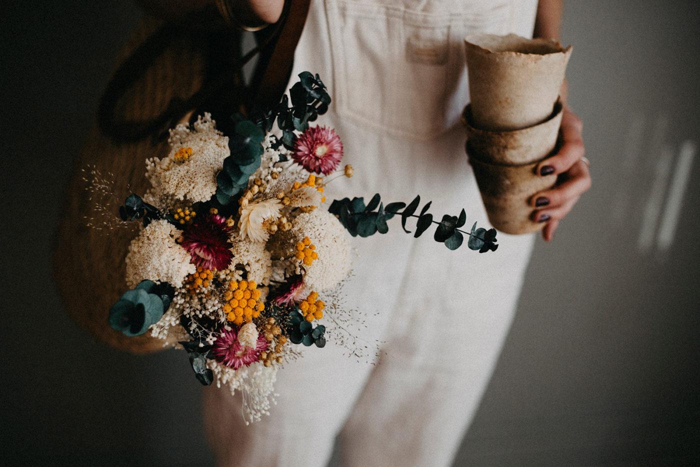 bouquet de fleurs sechees leone