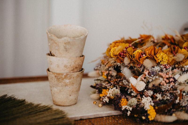 pot de fleurs vintage