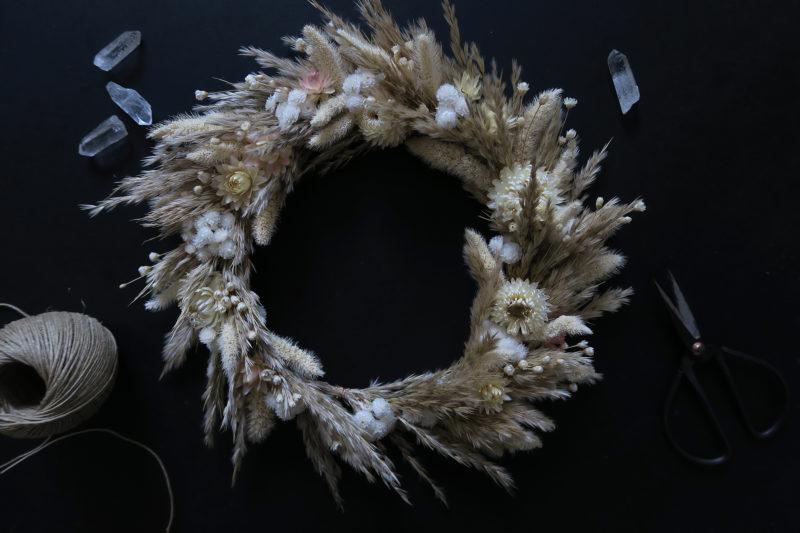couronne deco fleurs