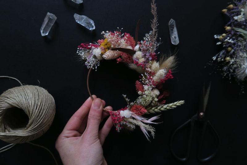 couronne decorative fleurs