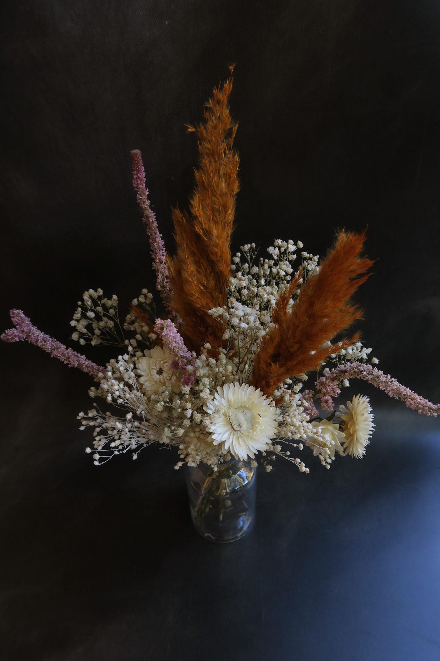 bouquet de fleurs séchées décoration florale naturelle fleuriste toulouse déco bohème boutique végétaux idée cadeau femme